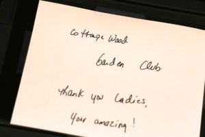 A Thank You note from Gilda's
